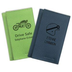 Laurige Porte Papiers de moto personnalisé - Publicité