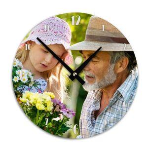 Amikado Horloge ronde personnalisée photo - Publicité