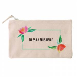 Amikado Petite trousse fleurs aquarelle personnalisée - Publicité