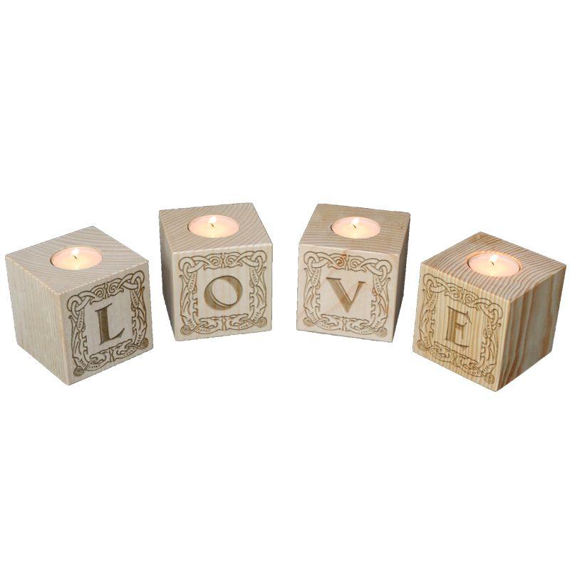Amikado Bougeoir cube Lettres
