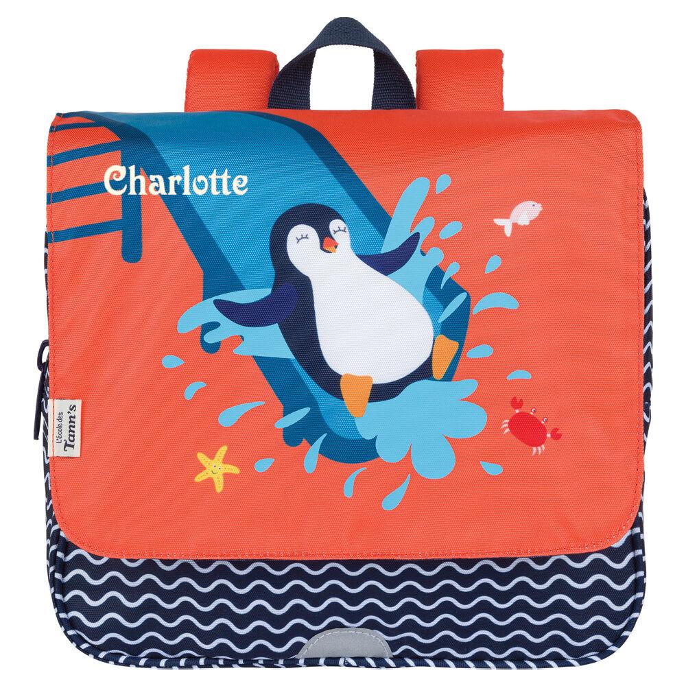 Amikado Cartable maternelle personnalisable Tann's - Pingouin