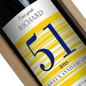 Amikado Bouteille de vin personnalisée Joyeux Anniversaire - Publicité