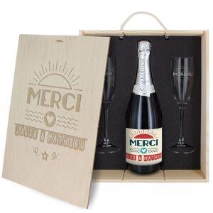 Amikado Coffret à Champagne personnalisé Merci - Publicité