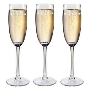 Amikado Flûtes à champagne prénom gravées - Publicité