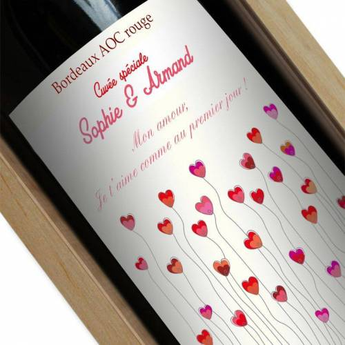Amikado Bouteille de vin personn...