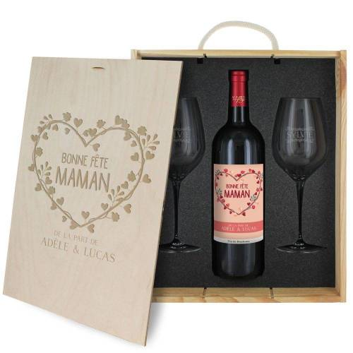 Amikado Coffret à vin 3 pièces p...