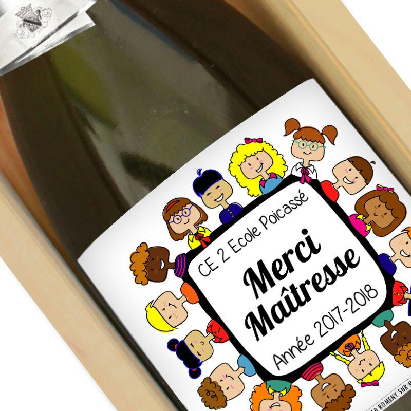 Amikado Bouteille de champagne Merci Maîtresse