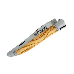 Le fidèle Couteau Laguiole Le Fidèle en olivier gravé - Publicité