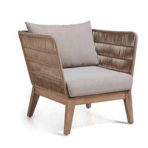 HomeMaison Lot de 2 fauteuils avec structure en eucalyptus - Publicité