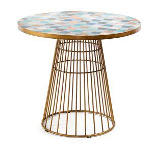 HomeMaison Table dorée en mosaïque multicolore - Publicité