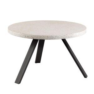 HomeMaison Table basse ronde à effet granite