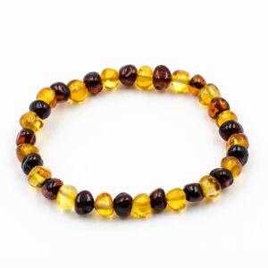 123Ambre Bracelet Ambre Femme Perles Baroques 2 Couleurs, Miel/Cerise - Publicité