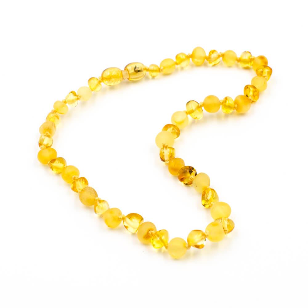 123Ambre Collier Ambre Bébé Perles Baroques Mix, Citron