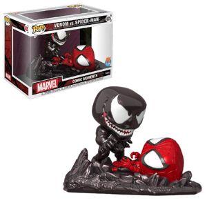 Funko Pop! Vinyl Figurine Pop! Comic Moment Spider-Man vs Venom EXC – PX Previews Marvel - Publicité