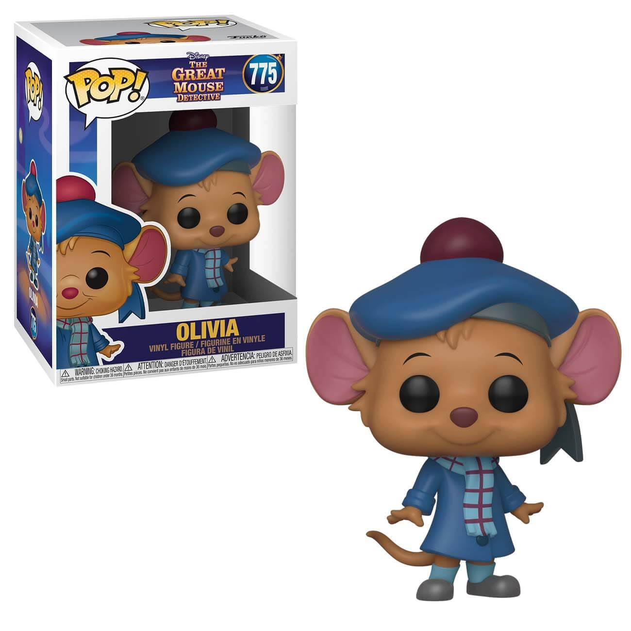 Pop! Vinyl Figurine Pop! Olivia - Basil, Détective Privé - Disney