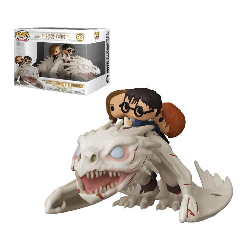 Pop! Vinyl Funko Pop! Ride Harry Potter Dragon avec Harry, Ron & Hermione