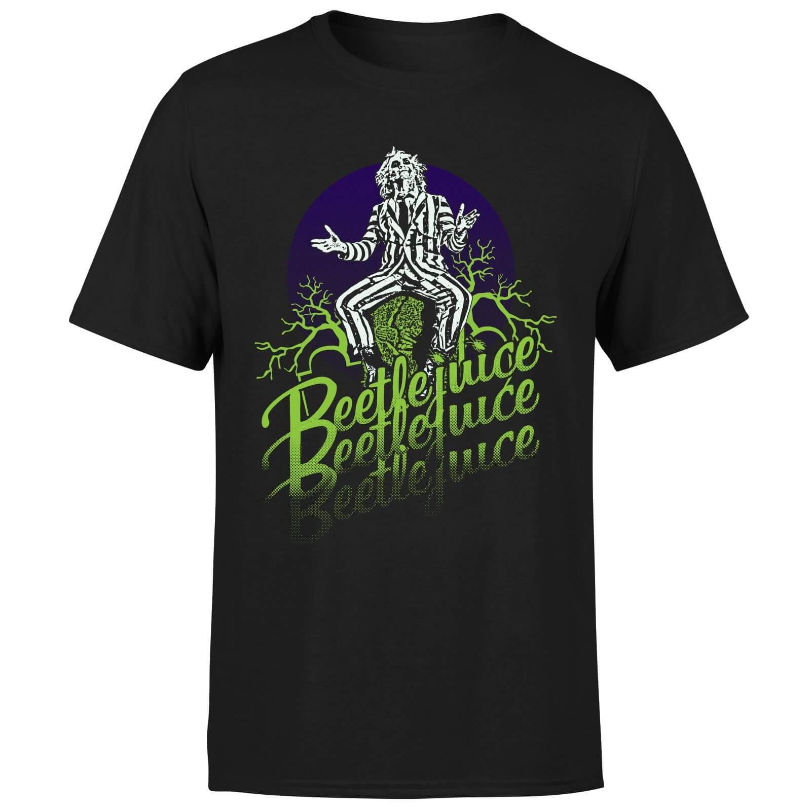 Beetlejuice T-Shirt Homme Beetlejuice Abîmé - Noir - XS - Noir