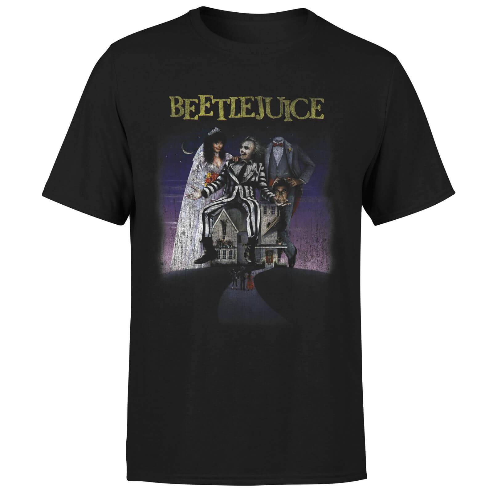 Beetlejuice T-Shirt Homme Affiche Abîmée Beetlejuice - Noir - XS - Noir