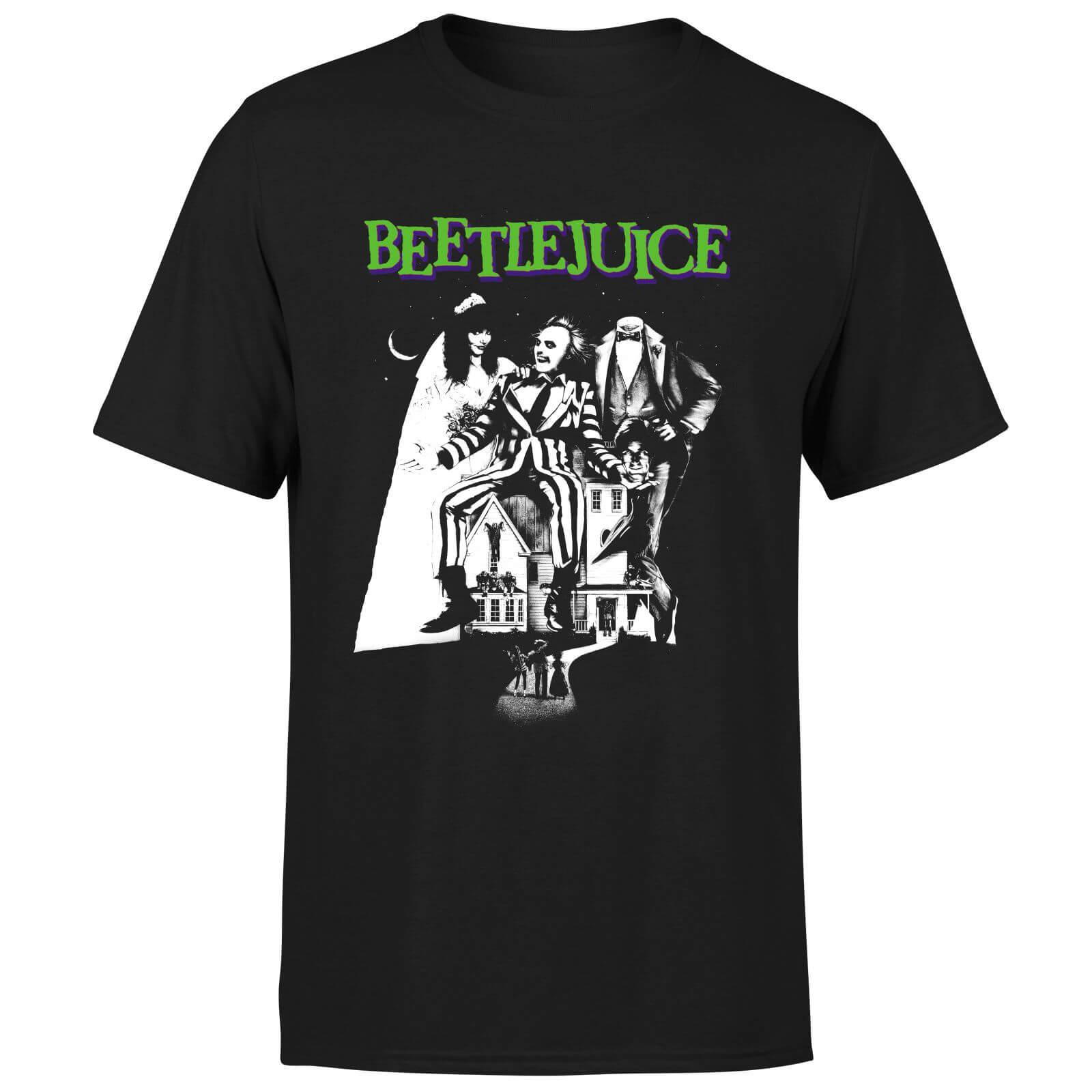 Beetlejuice T-Shirt Homme Affiche Mono Beetlejuice - Noir - L - Noir