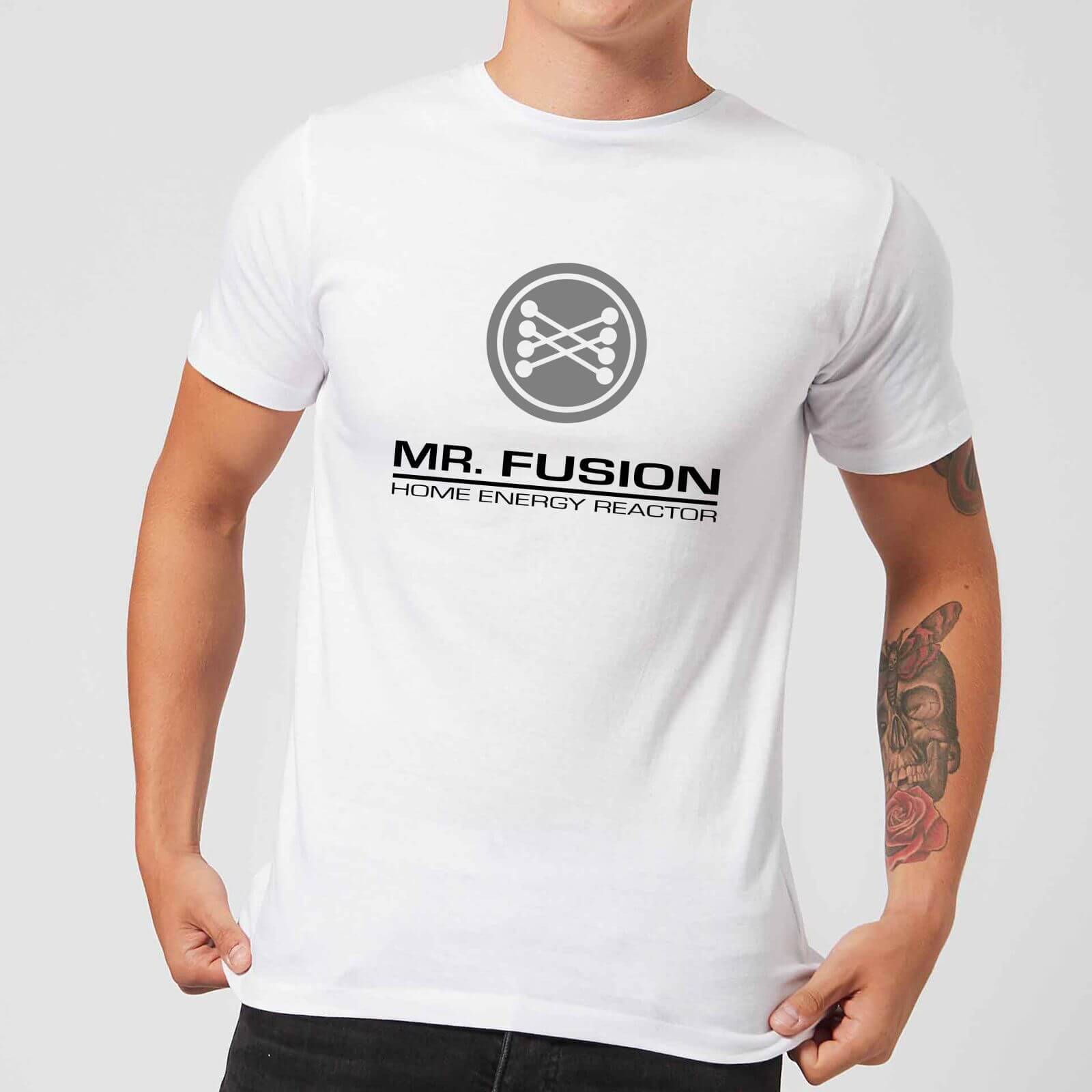 Back to the Future T-Shirt Homme Retour vers le Futur - Mr Fusion - Blanc - S - Blanc