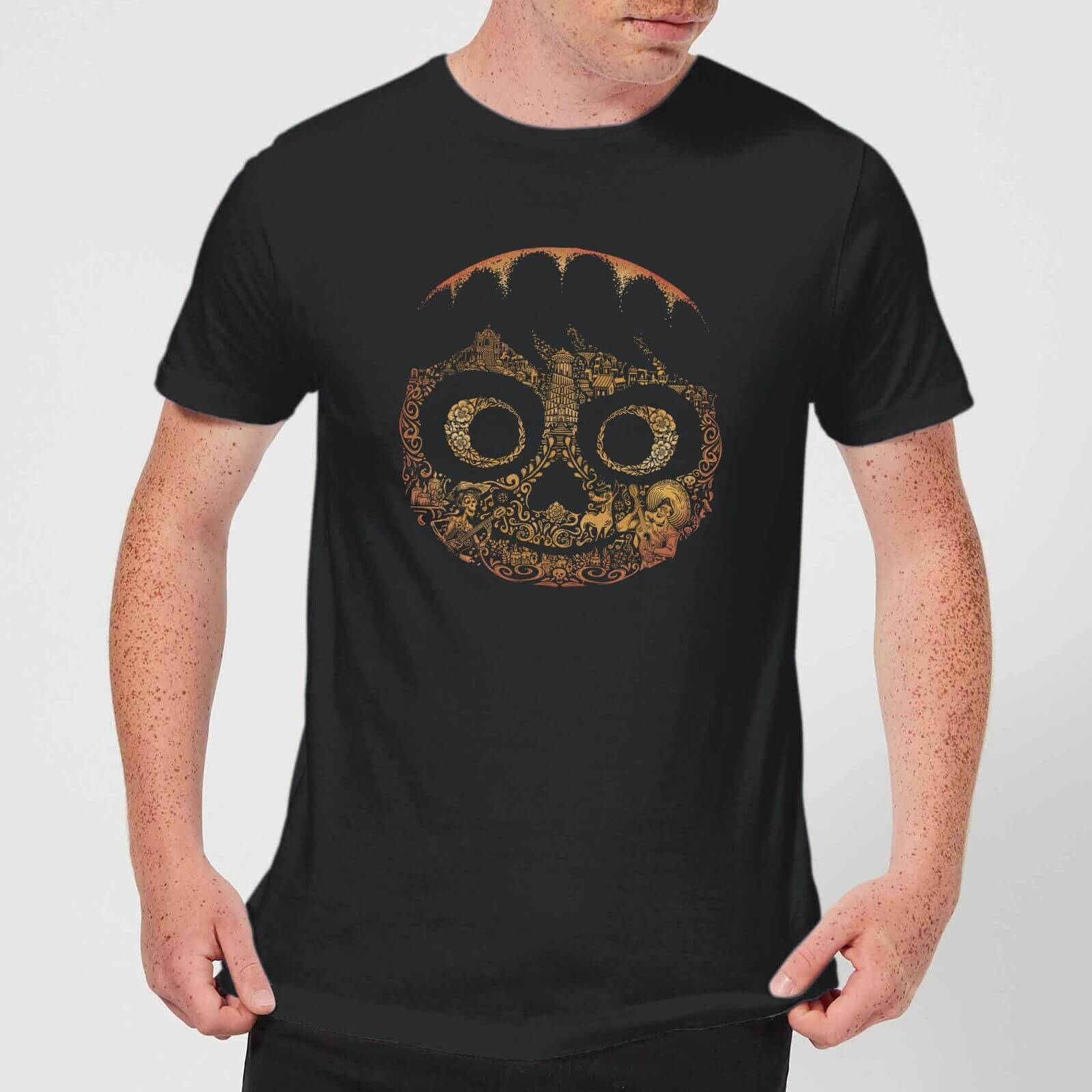 Pixar T-Shirt Homme Visage Miguel Coco - Noir - XL - Noir