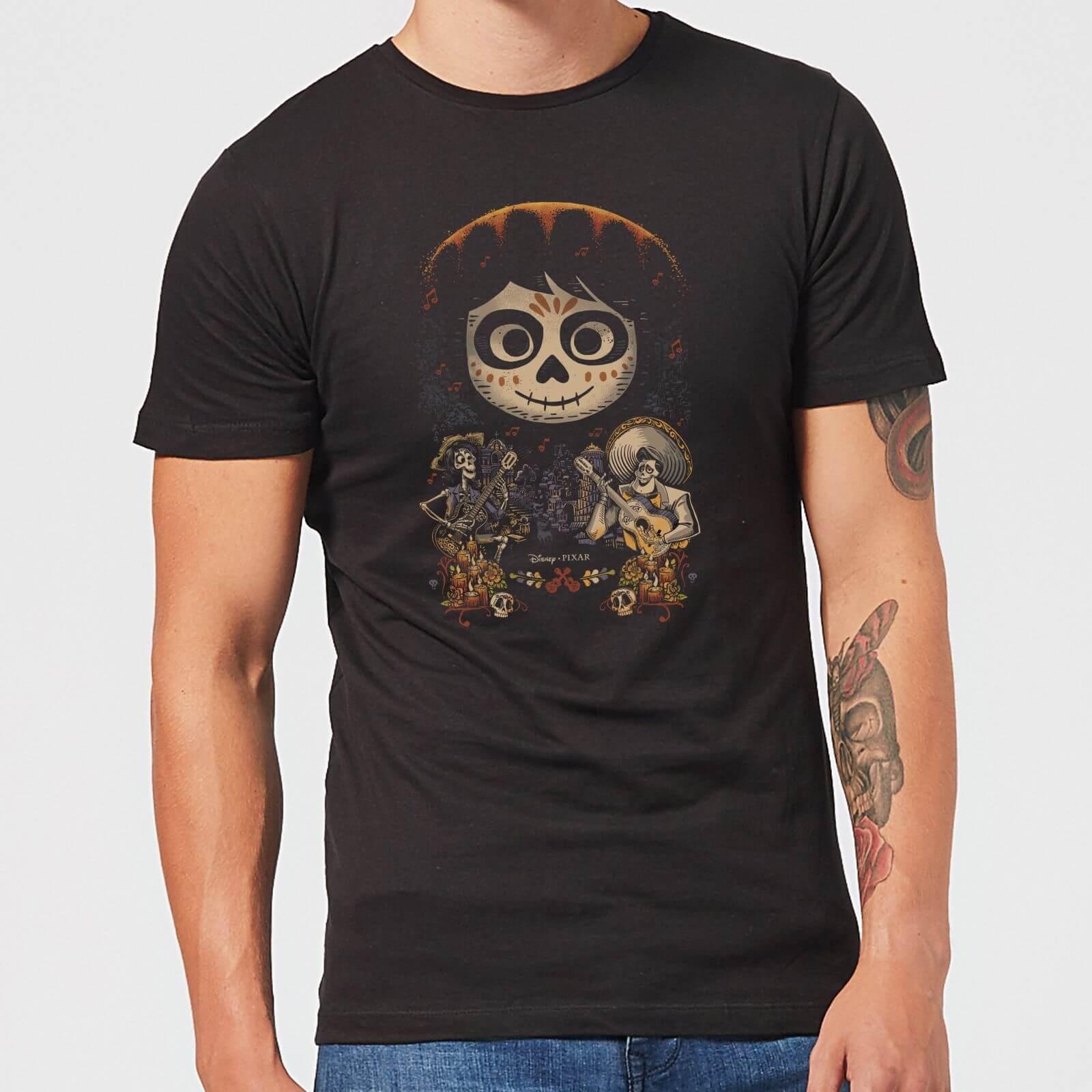 Pixar T-Shirt Homme Visage Miguel Poster Coco - Noir - L - Noir