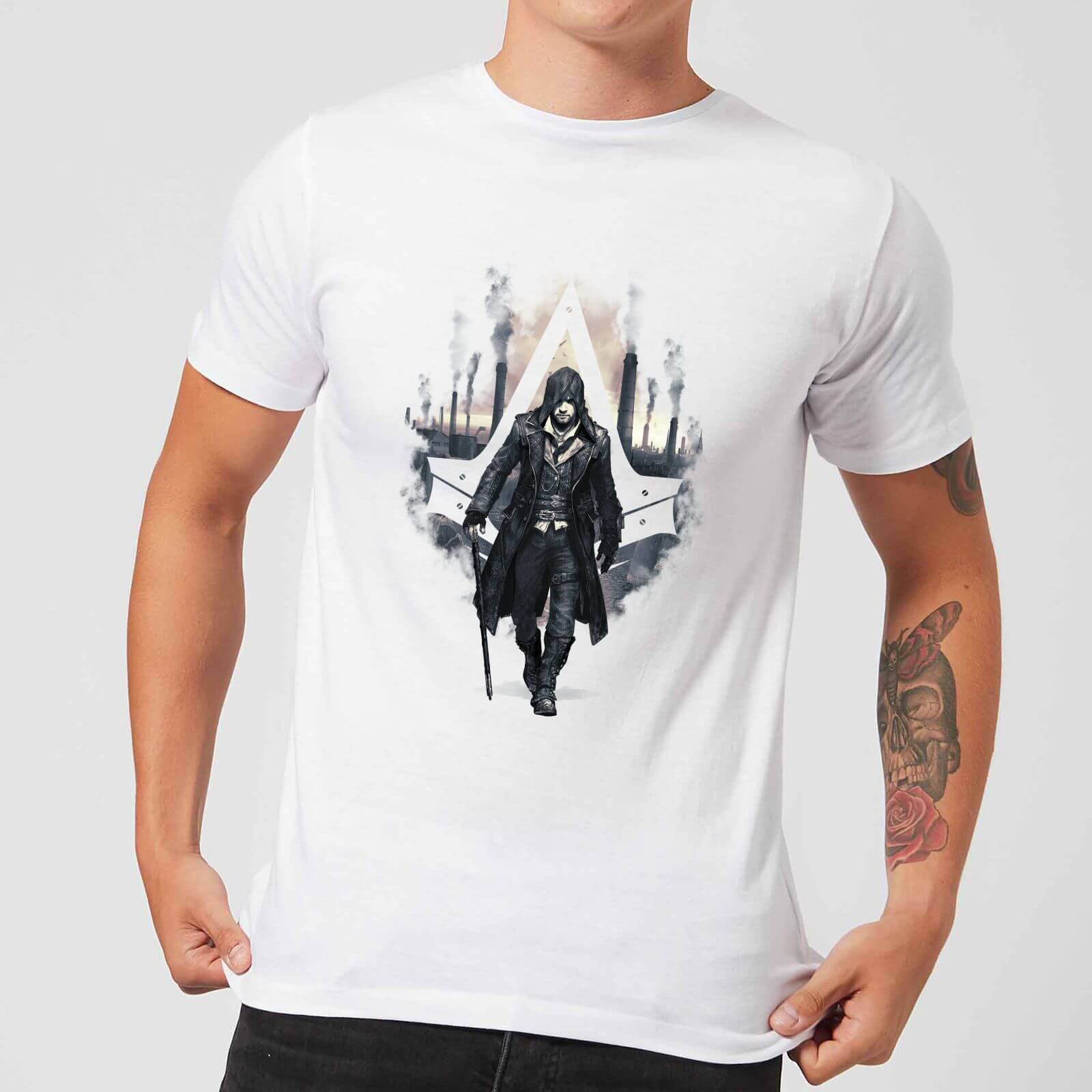 Assassin's Creed T-Shirt Homme London Skyline Assassin's Creed Syndicate - Blanc - XL - Blanc