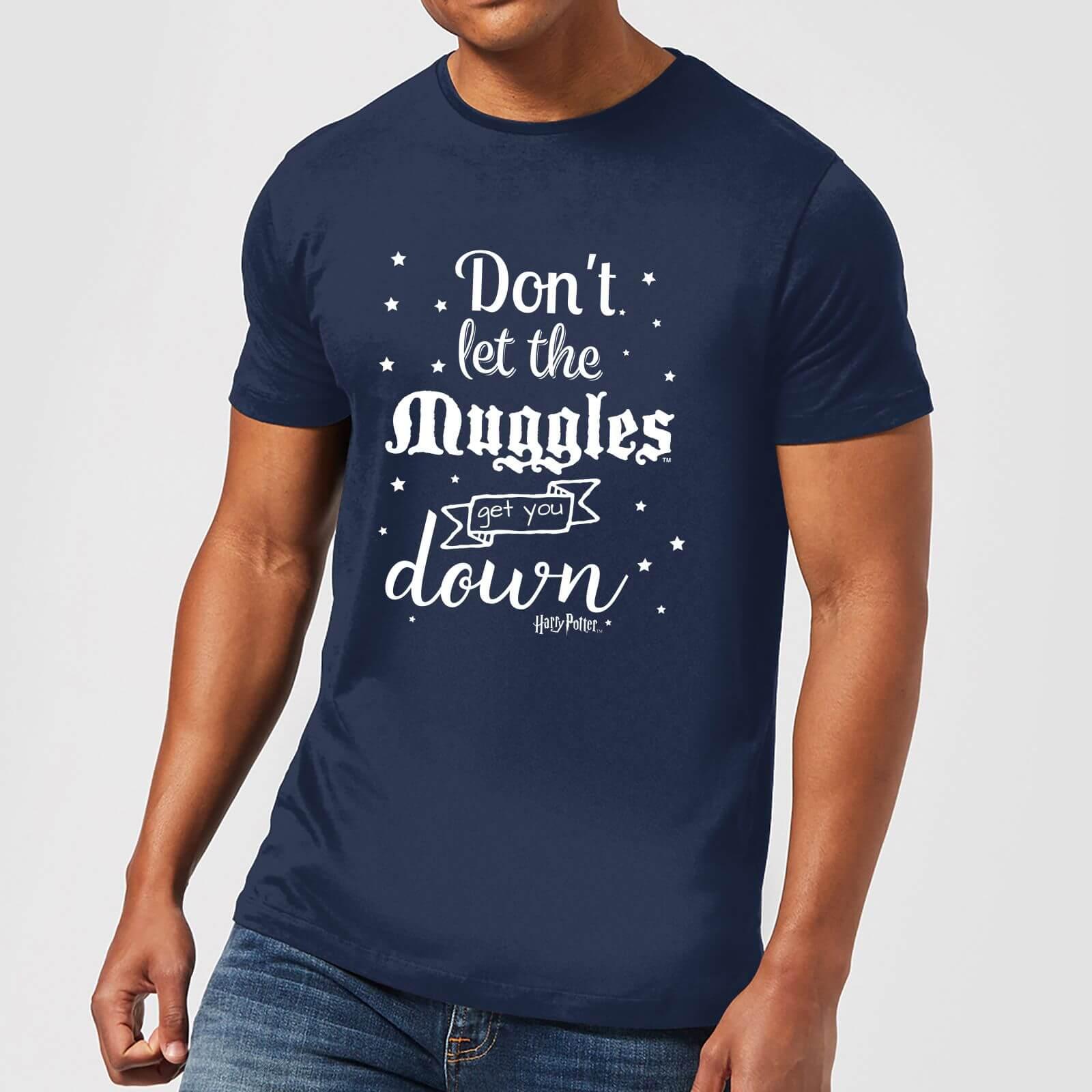 Harry Potter T-Shirt Homme Ne te Laisse pas Faire par les Modus - Harry Potter - Bleu Marine - XXL - Navy
