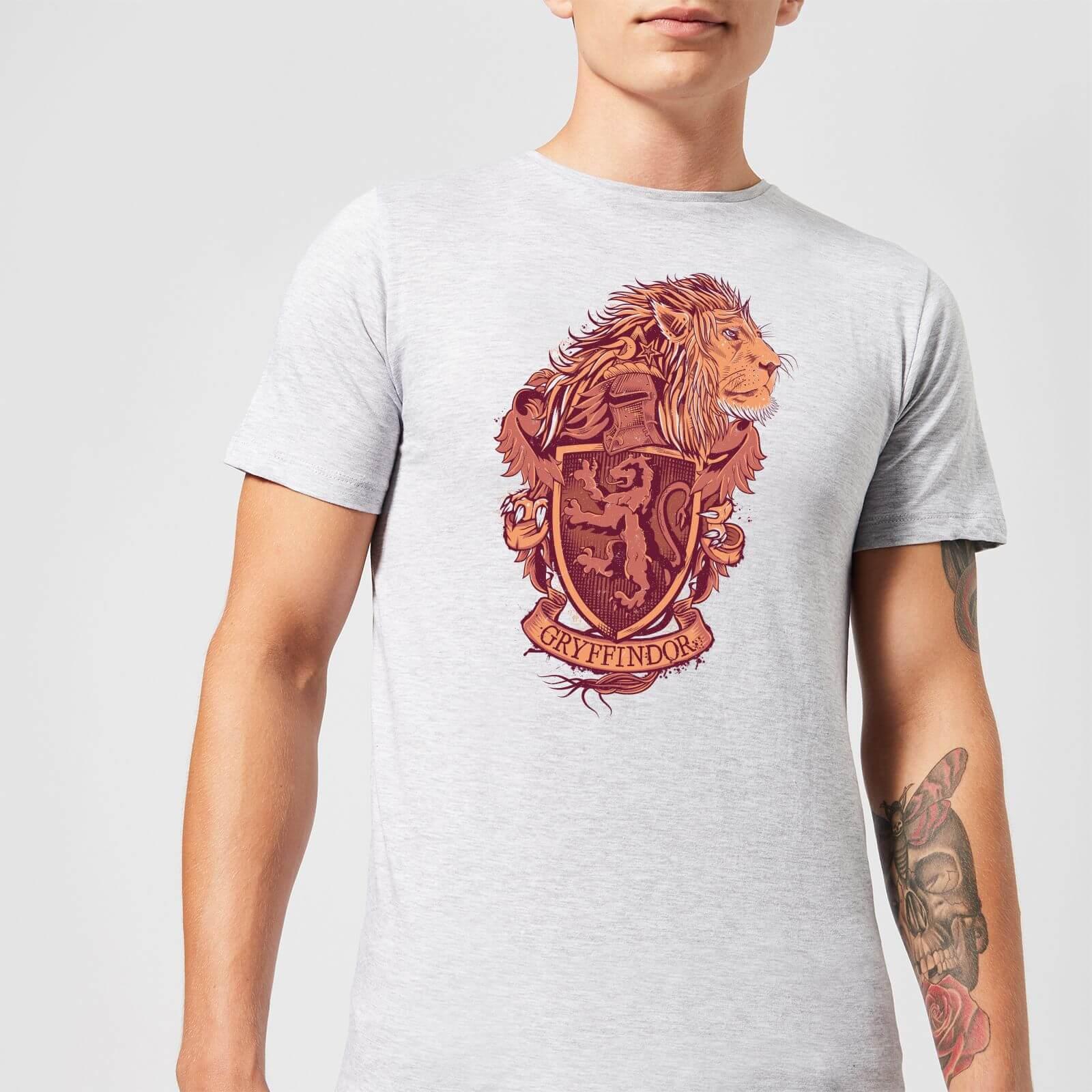 Harry Potter Gryffindor Drawn Crest Men's T-Shirt - Grey - S - Gris