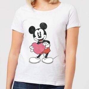 Disney T-Shirt Femme Mickey Mouse Je t'Offre mon Cœur (Disney) - Blanc - L - Blanc - Publicité