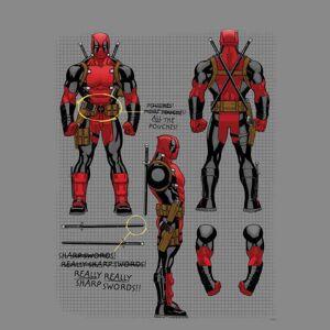 Marvel Sweat Femme Plan d'une Figurine Deadpool Marvel - Gris - L - Gris - Publicité
