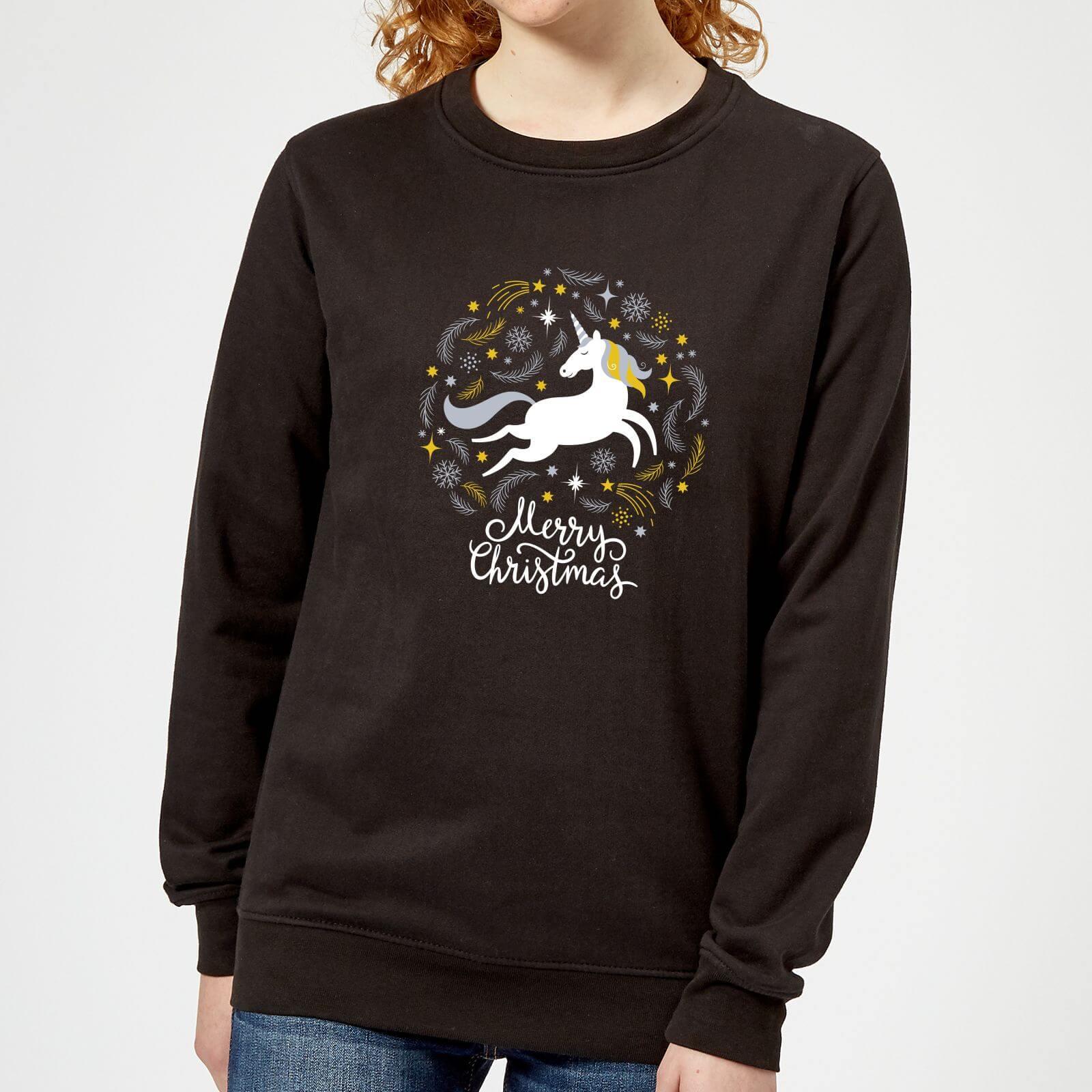 The Unicorn Collection Pull de Noël Femme Unicorn - Noir - XL - Noir