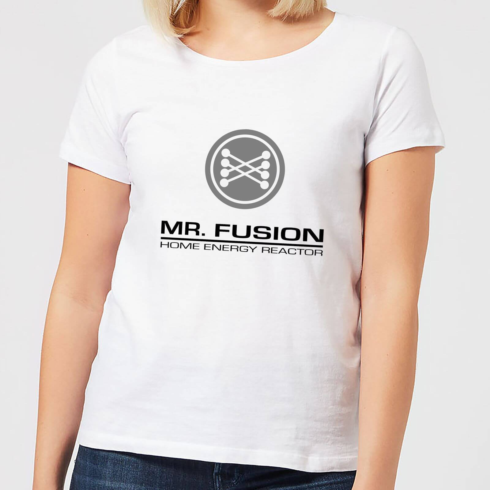 Back to the Future T-Shirt Femme Retour vers le Futur - Mr Fusion - Blanc - XL - Blanc
