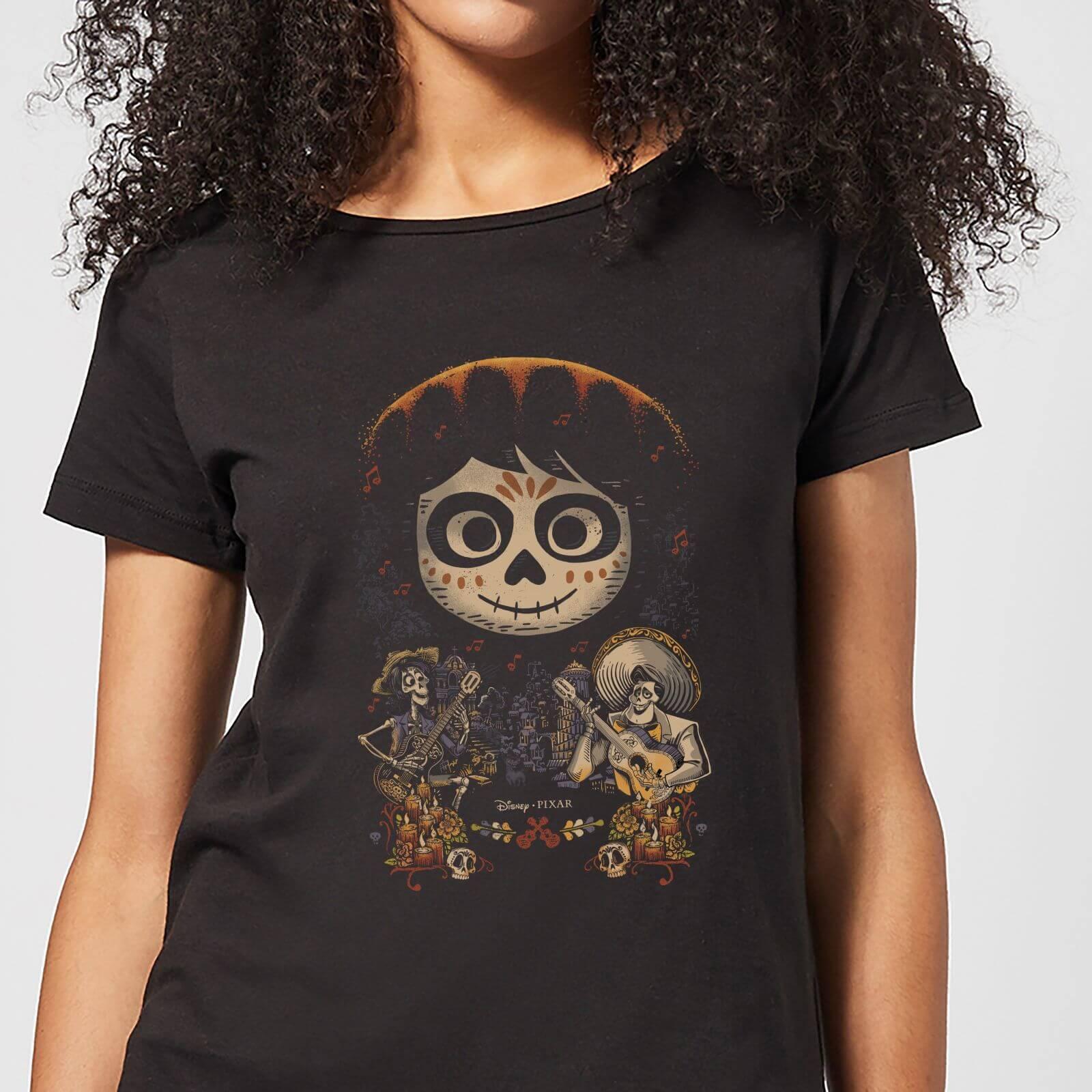 Pixar T-Shirt Femme Visage Miguel Poster Coco - Noir - XL - Noir
