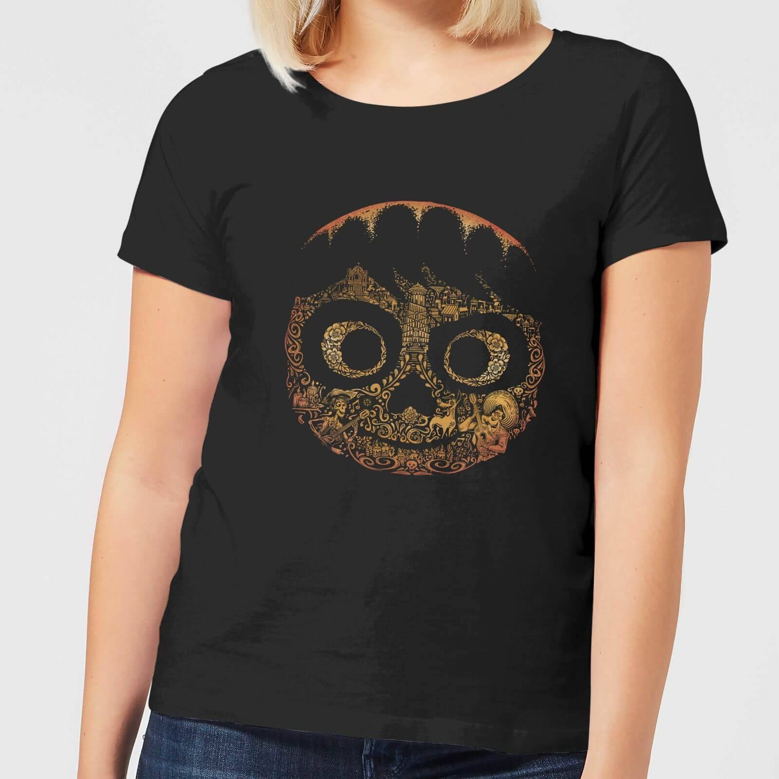 Pixar T-Shirt Femme Visage Miguel Coco - Noir - M - Noir