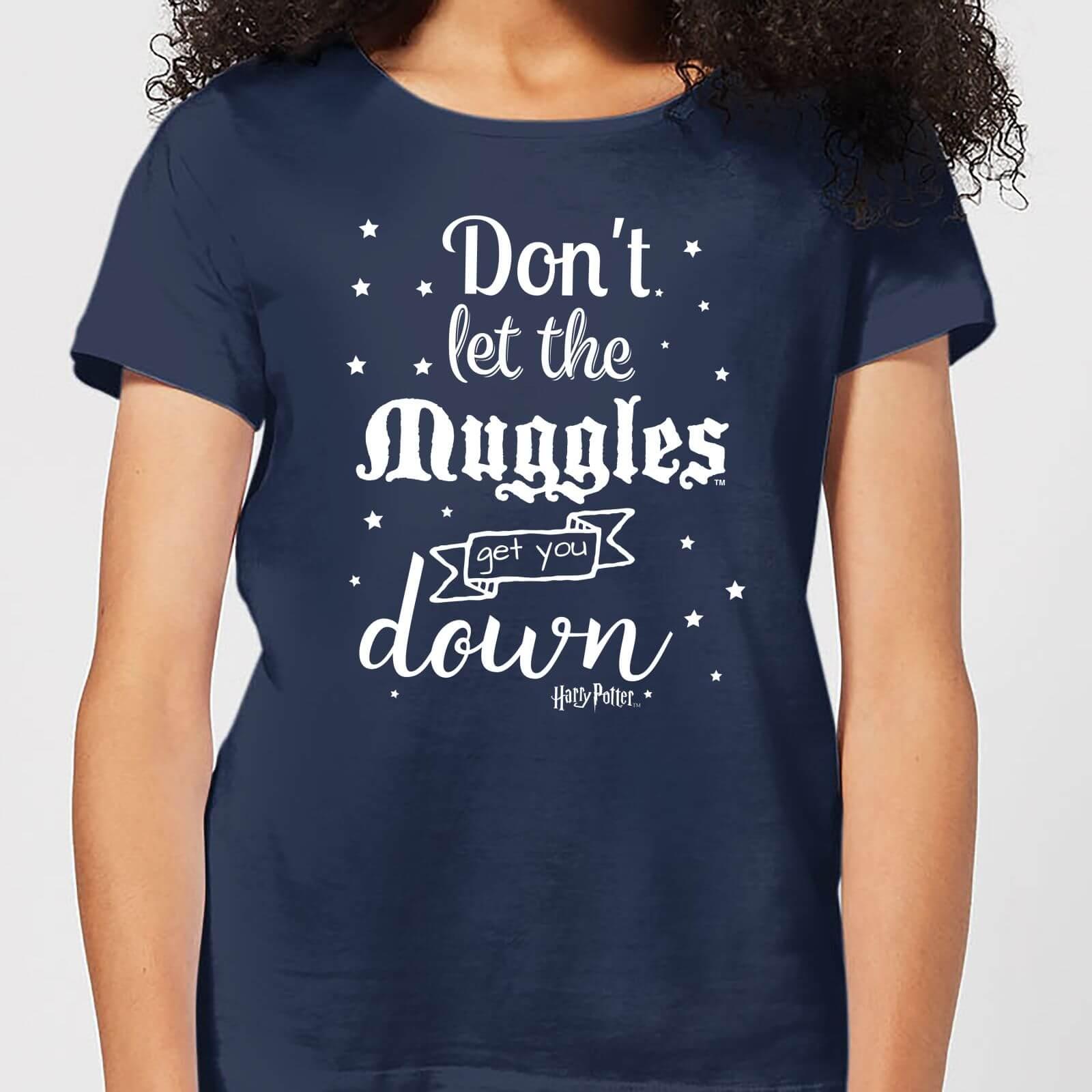 Harry Potter T-Shirt Femme Ne te Laisse pas Faire par les Modus - Harry Potter - Bleu Marine - XL - Navy