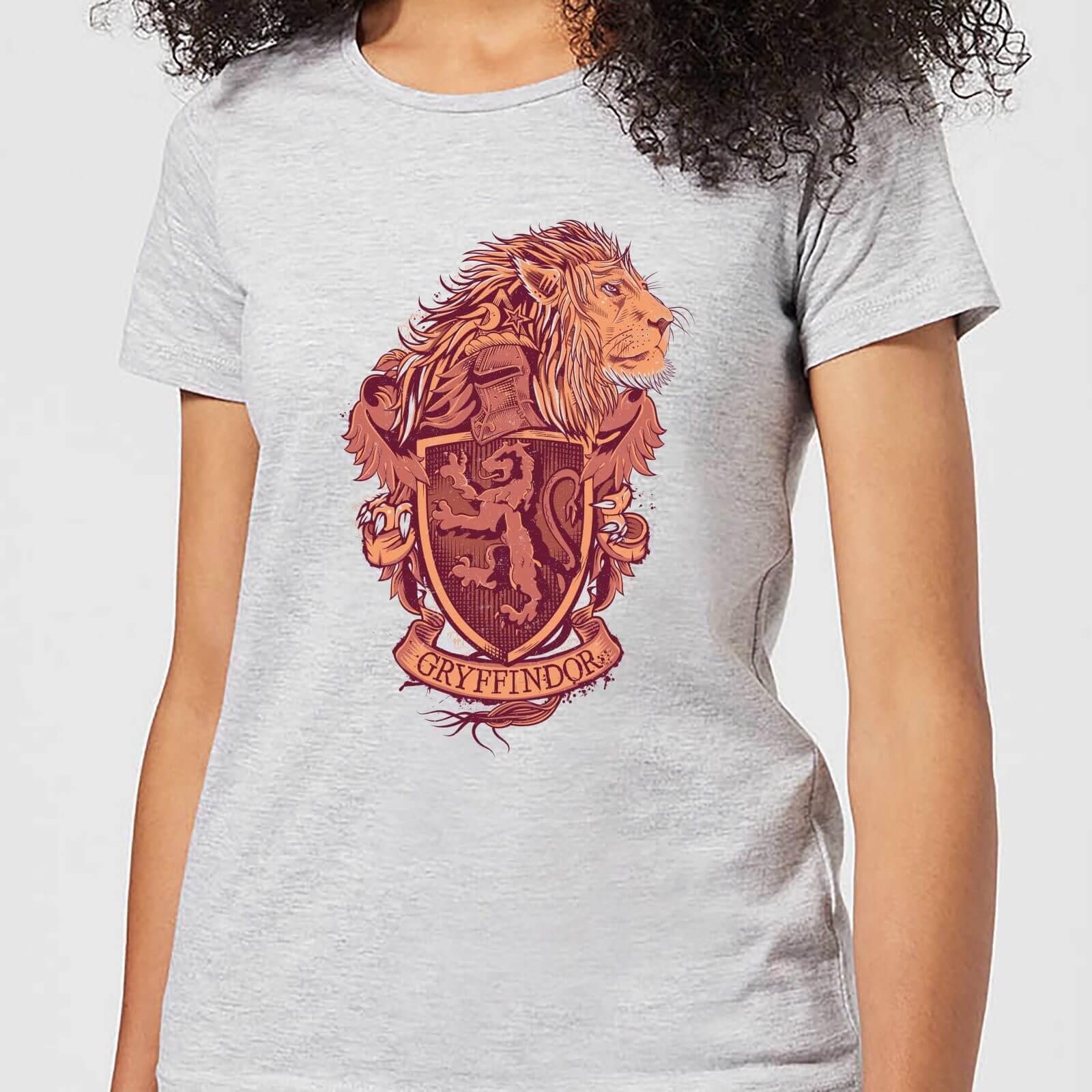 Harry Potter Gryffindor Drawn Crest Women's T-Shirt - Grey - L - Gris