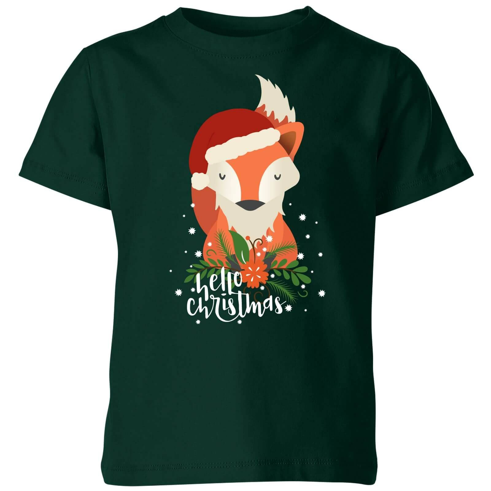 The Christmas Collection Sweat Femme Renard - Vert - 3-4 ans - Forest Green