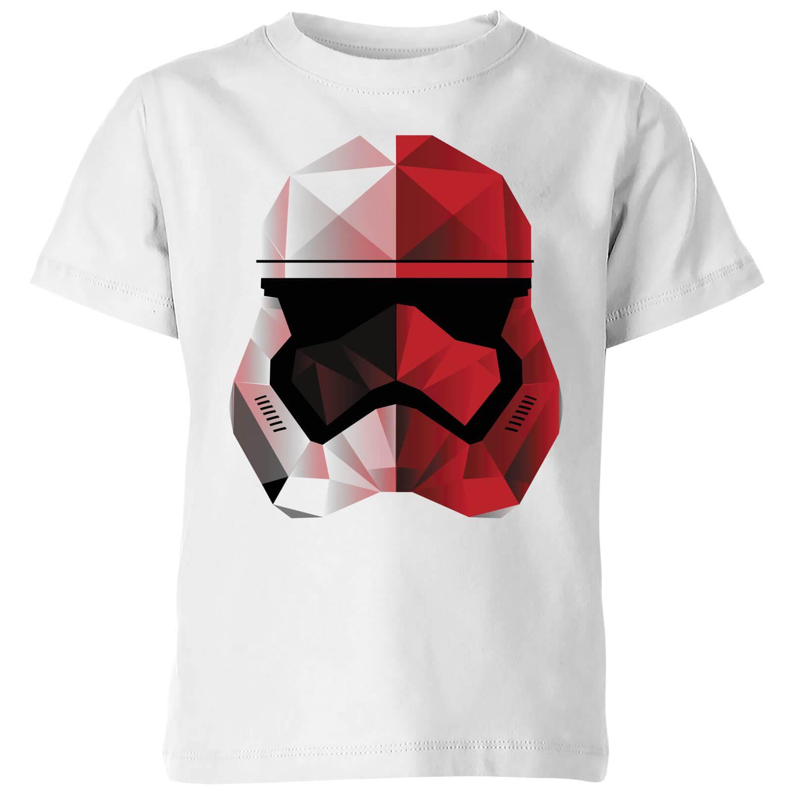 Star Wars T-Shirt Enfant Casque Stormtrooper Effet Cubiste - Star Wars - Blanc - 7-8 ans - Blanc