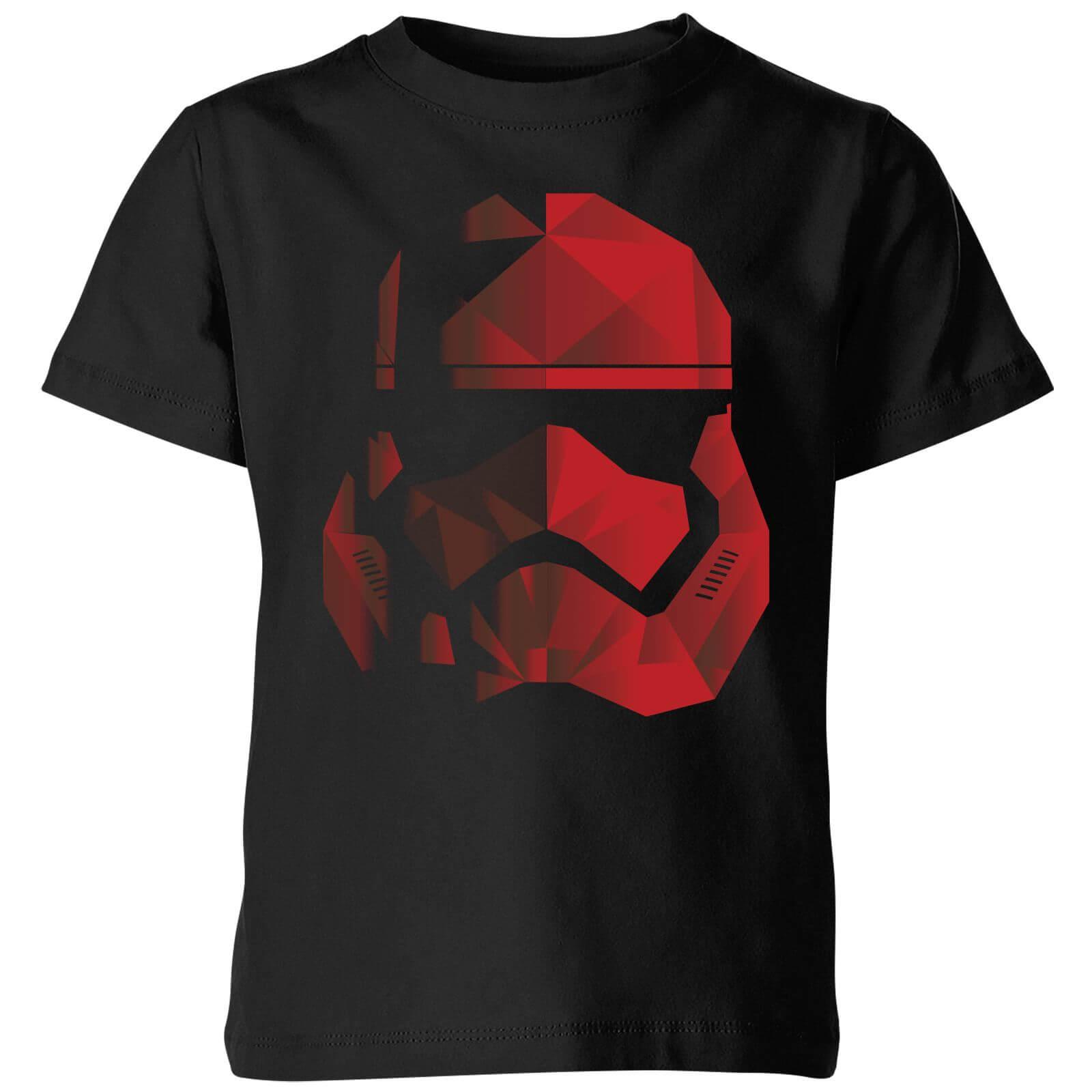 Star Wars T-Shirt Enfant Casque Stormtrooper Effet Cubiste - Star Wars - Noir - 11-12 ans - Noir