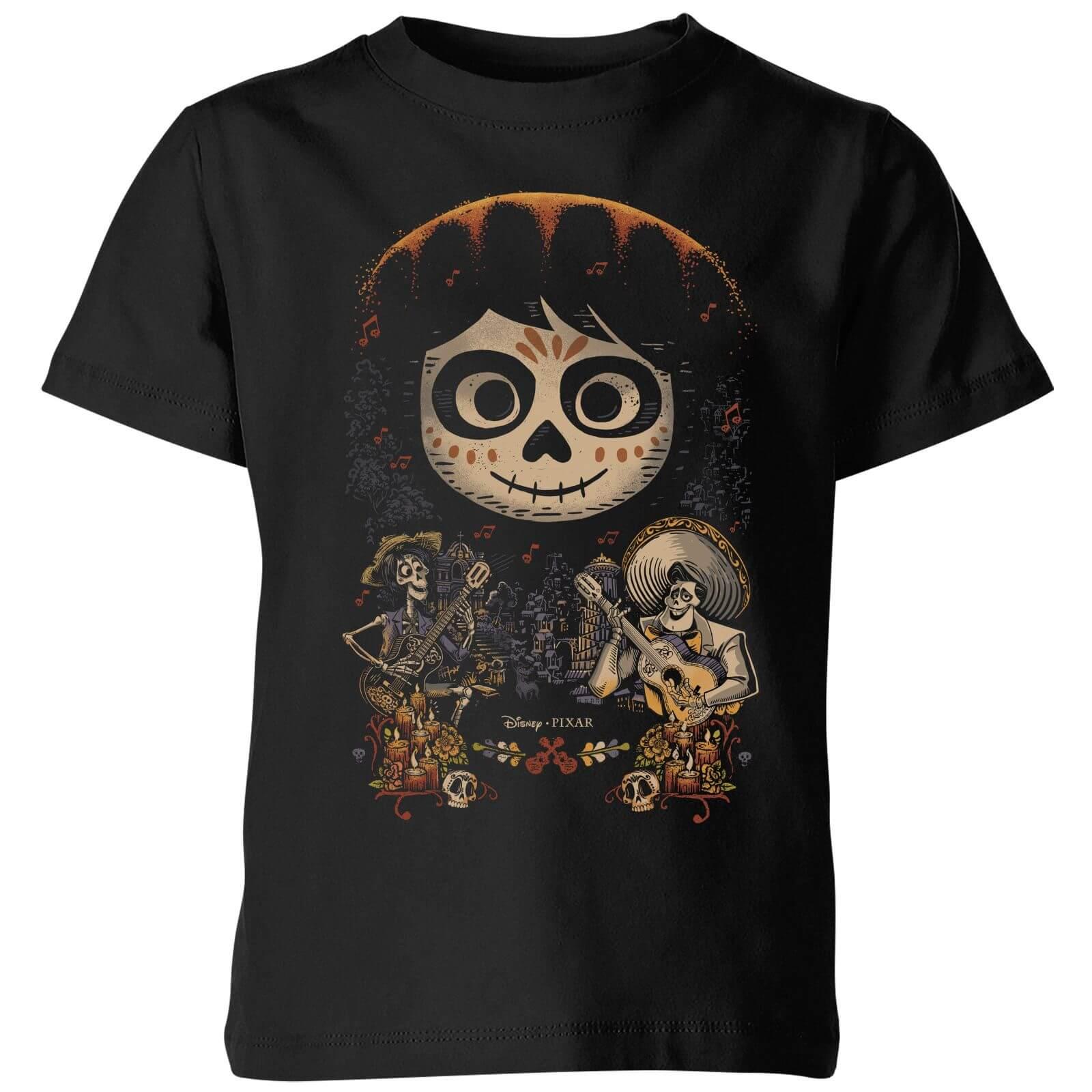 Pixar T-Shirt Enfant Visage Miguel Poster Coco - Noir - 3-4 ans - Noir