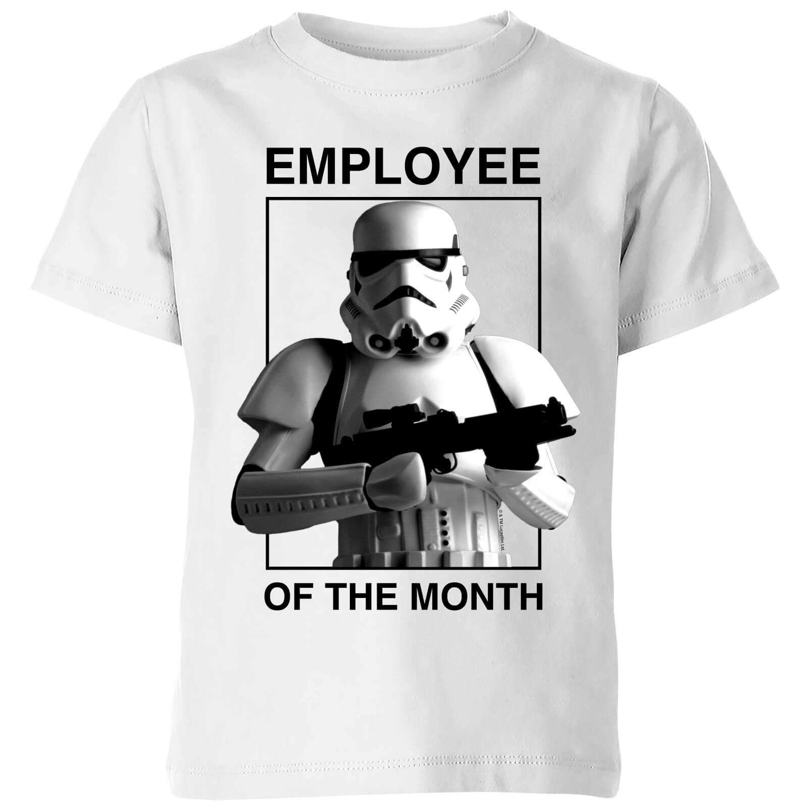 Star Wars T-Shirt Enfant Employé du Mois Star Wars Classic - Blanc - 7-8 ans - Blanc