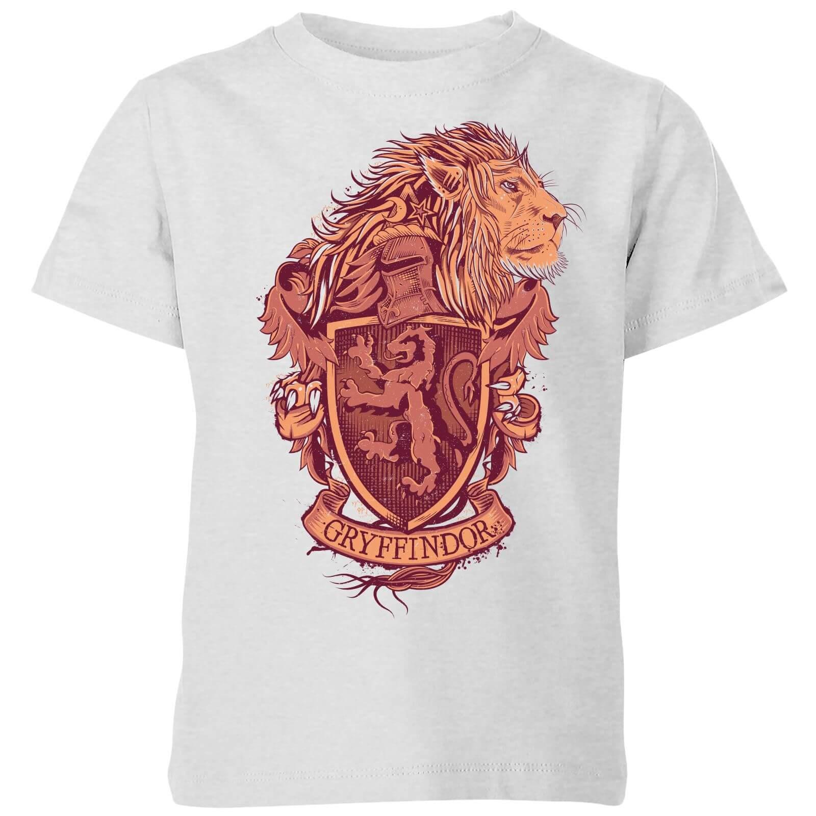 Harry Potter Gryffindor Drawn Crest Kids' T-Shirt - Grey - 9-10 ans - Gris