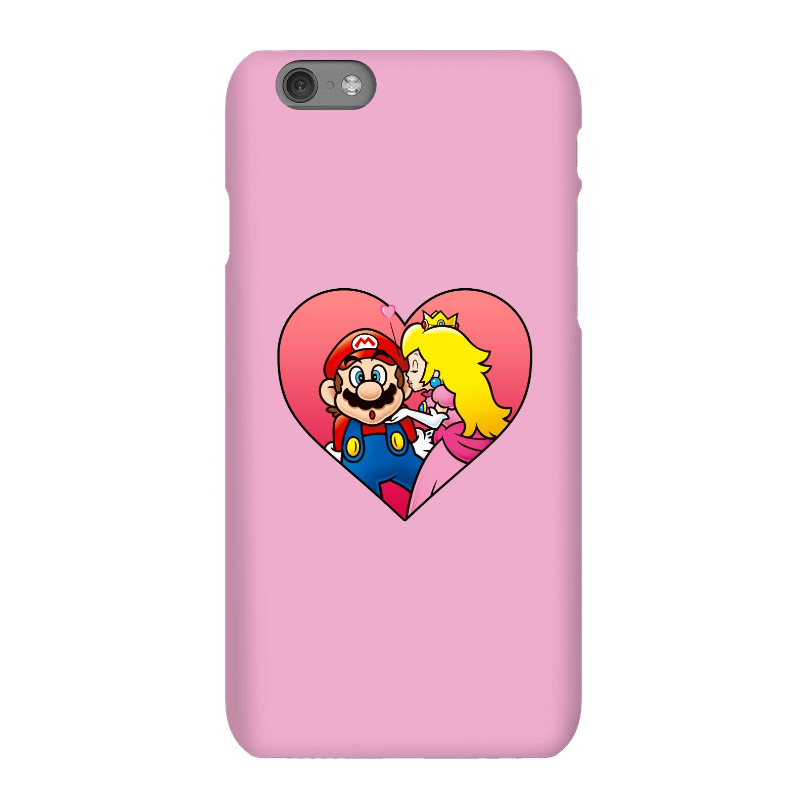 Nintendo Coque Smartphone Bisou Peach - iPhone & Android - iPhone 6S - Coque Simple Vernie