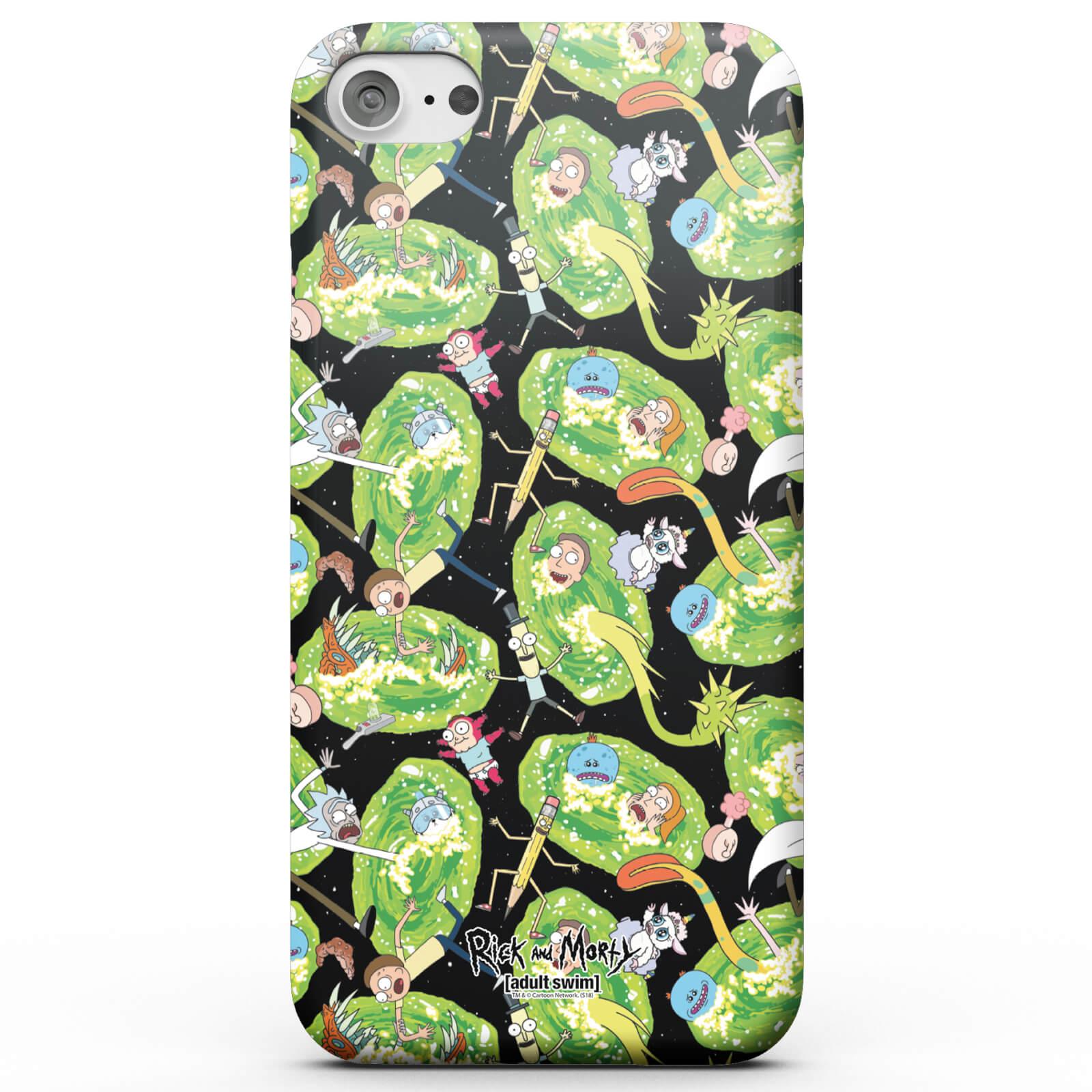 Rick and Morty Coque Smartphone Rick et Morty Portail Galactique et Personnages - iPhone & Android - Samsung Note 8 - Coque Double Épaisseur Matte