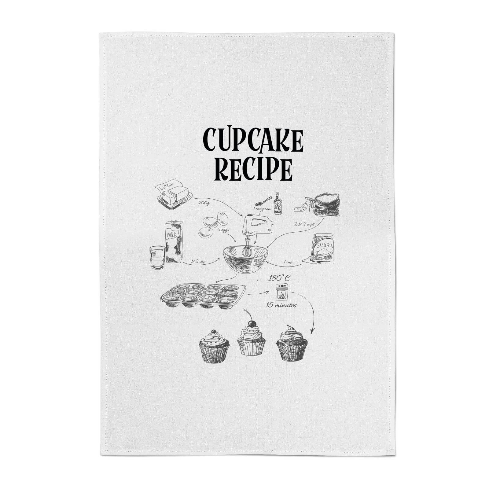 By IWOOT Cupcake Recipe Cotton Tea Towel