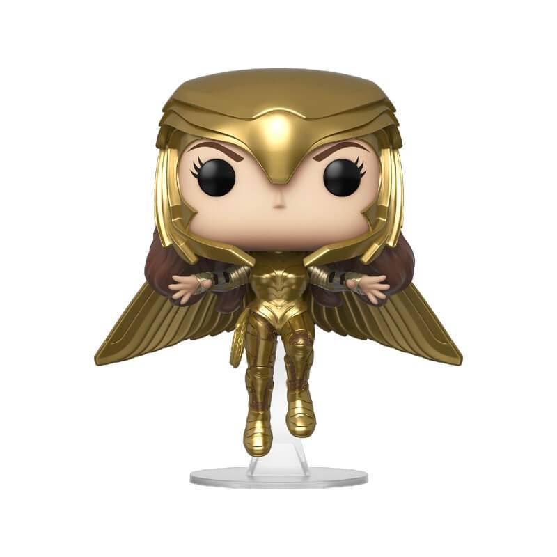 Pop! Vinyl Figurine Pop! Wonder Woman Or Volant Métallique - Wonder Woman 1984