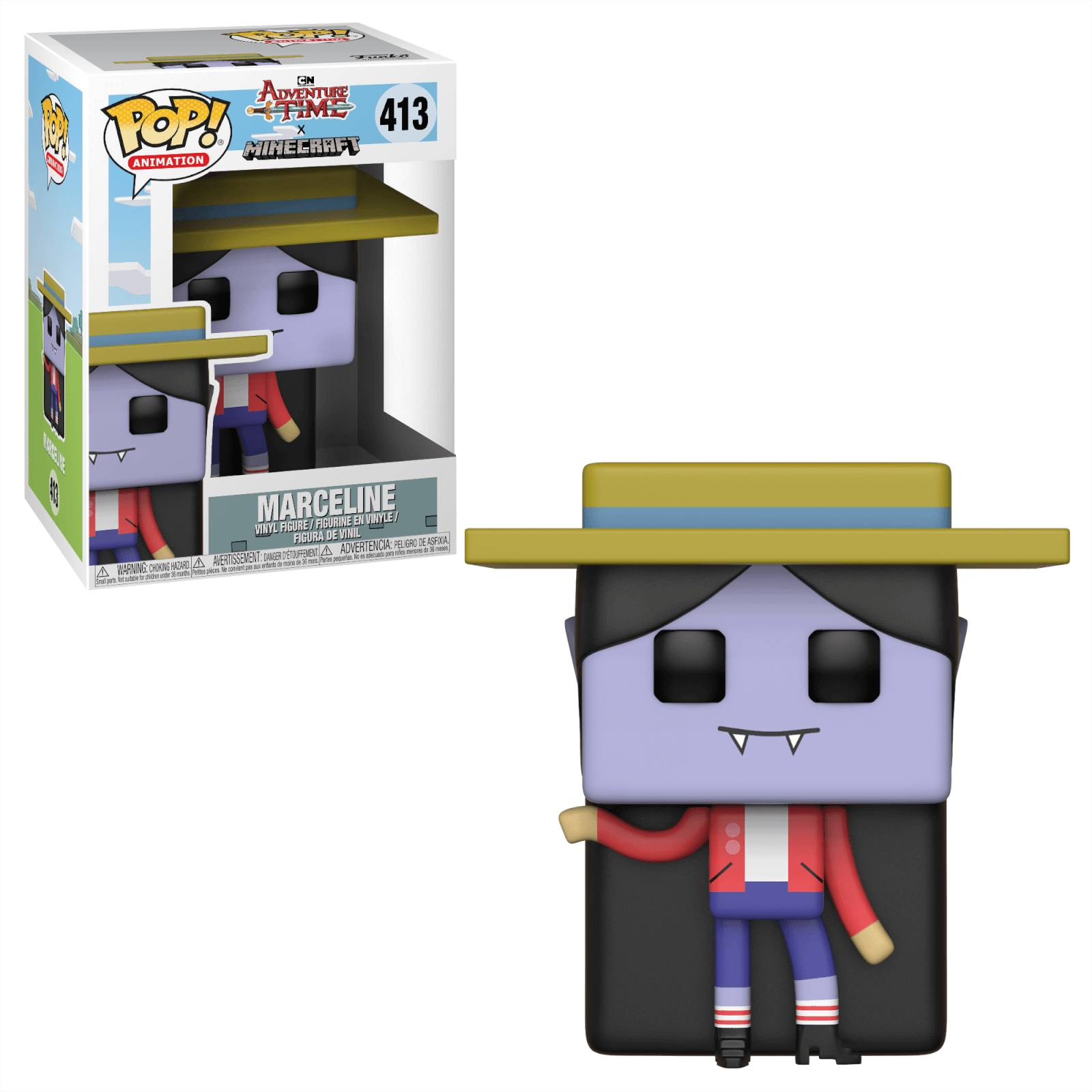 Pop! Vinyl Figurine Pop! Princesse Bonnibel Chewing-Gum - Adventure Time x Minecraft