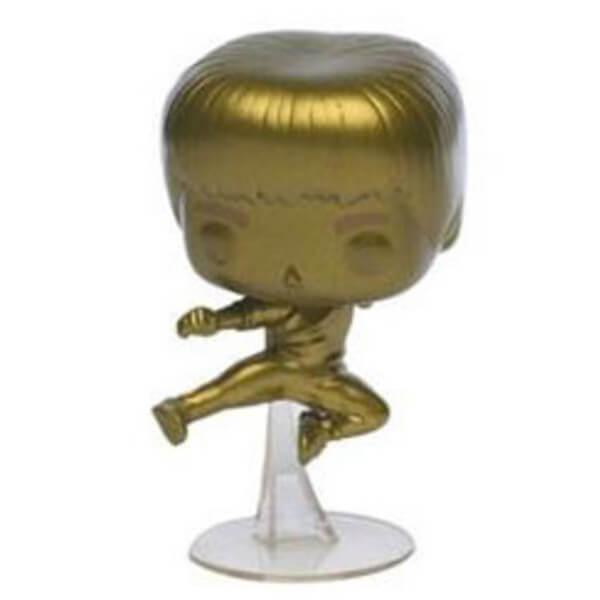Pop! Vinyl Figurine Pop! Le Jeu De La Mort Bruce Lee Kicking EXC Chromé Or