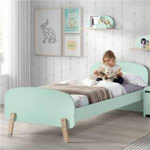 NOUVOMEUBLE Lit vert pour enfant scandinave SANNA - Publicité
